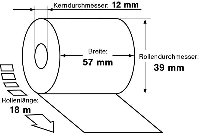 EC Thermorollen 57mm x 18m x 12mm phenolfrei Lastschriftdruck 50 Stck